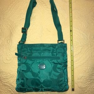 Coach Canvas Crossbody Green